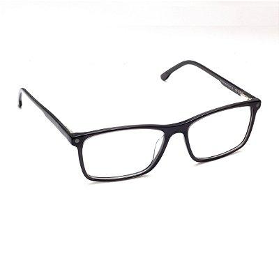 Armação para Óculos de Grau Clip-on Masculino Acetato Azul Petróleo