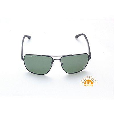 Óculos de Sol Masculino Metal Preto com Lentes Verde G-15