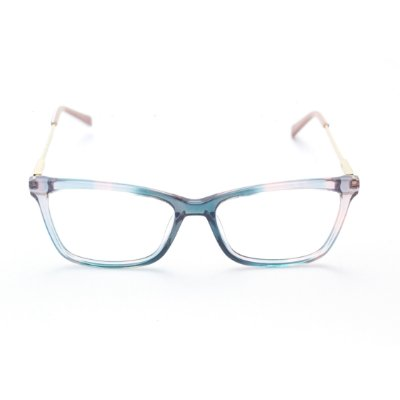 Armação para Óculos de Grau Feminino Acetato Bicolor com Gliter