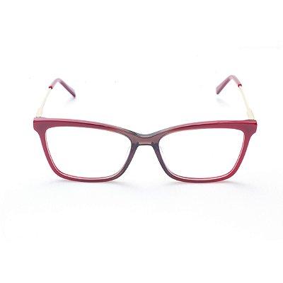 Armação para Óculos de Grau Feminino Acetato Bicolor