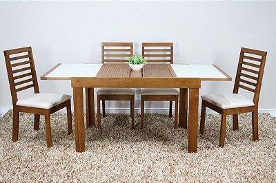 Conjunto Lírio c/ quatro cadeiras