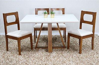 Conjunto Begônia c/ quatro cadeiras