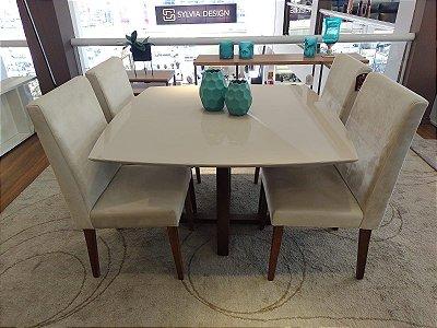 Mesa de jantar Tivoli c/ 04 cadeiras