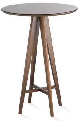 Mesa bistrô com tampo redondo 0,75m com espelho bronze
