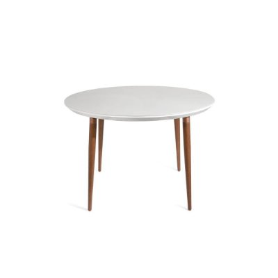 Mesa sd03 jant loui prov 115 cm natural c tampo/vidro off white