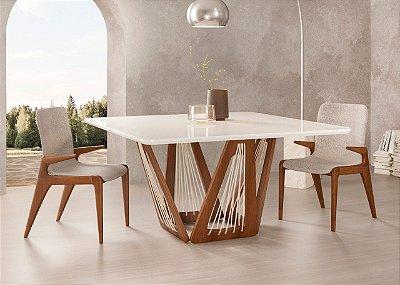 Mesa de jantar sd03- tram bru quadrada ( moderna e elegante)