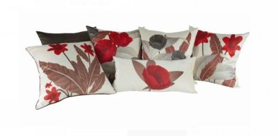 Kit 6 almofadas rosas vermelhas