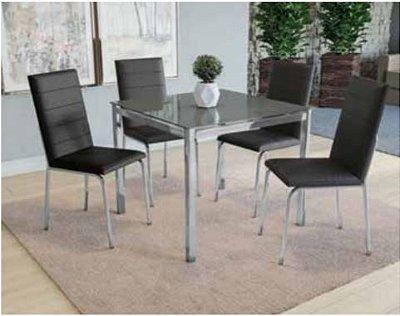 Mesa 4 cadeiras cromada