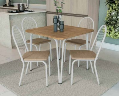 Mesa 4 cadeiras tubular
