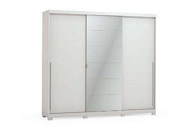 Guarda roupa Levita 3 portas de correr com espelho