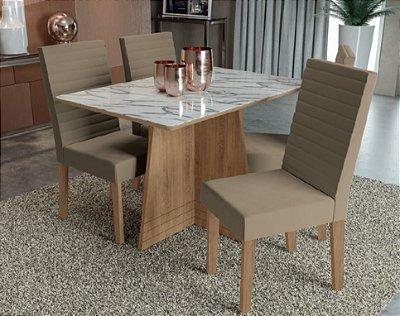 Mesa com 4 cadeiras Jazira