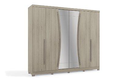 Guarda Roupa 6 portas (Jetta) com espelho