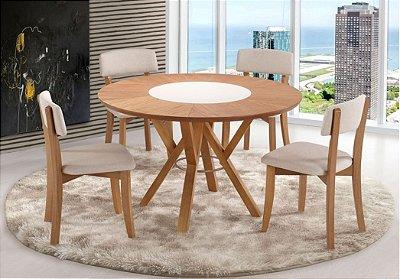 Cjt Mesa de Jantar Serrana 1,20 mts com 4 Cadeiras