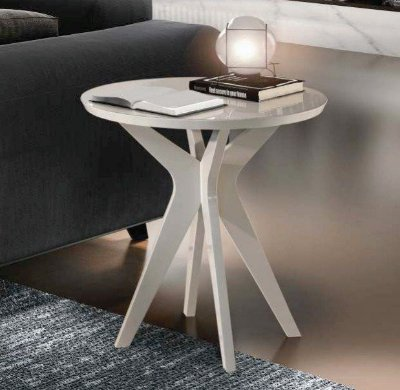 Mesa lateral bela - branca corb