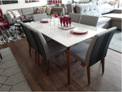 Mesa de jantar com 6 Cadeiras Suiça