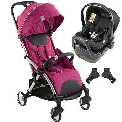 Carrinho de Bebe Bebe Conforto Base Chicco Goody Plus Pink