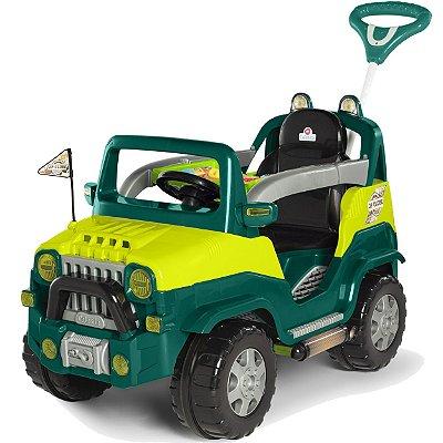 Carrinho de Passeio e Pedal para Bebe Calesita Diipi Verde
