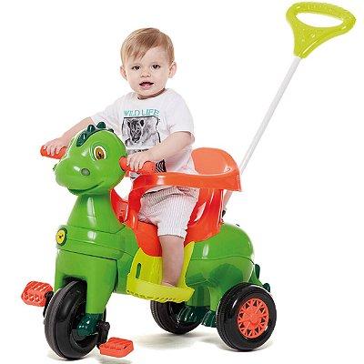 Carrinho de Passeio e Pedal para Bebe Calesita Didino Verde