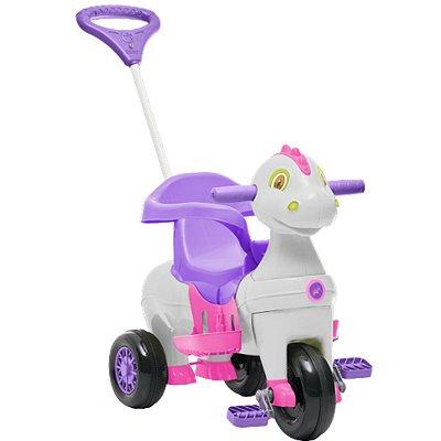 Carrinho de Passeio e Pedal para Bebe Calesita Didino Rosa