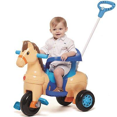 Carrinho de Passeio Pedal para Bebe Calesita Potó Cavalinho