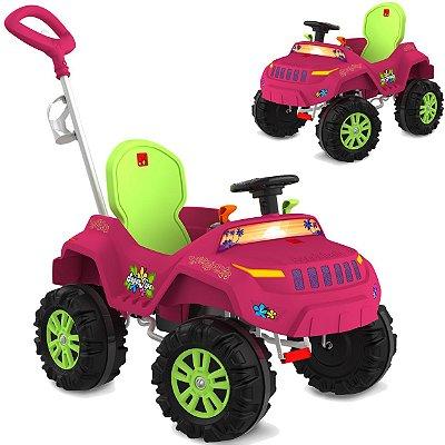 Carrinho Passeio Pedal Reclinavel Bandeirante Superjipe Pink