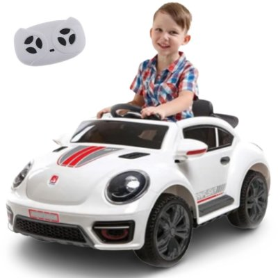 Carro Eletrico Bandeirante Ban Fuska 12V Branco com Controle