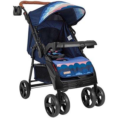 Carrinho de Bebe para Passeio Tutti Baby Sky Reversível Azul