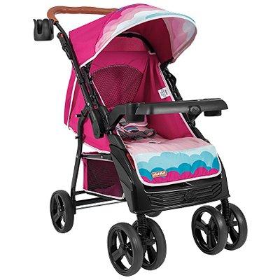 Carrinho de Bebe para Passeio Tutti Baby Sky Reversível Rosa
