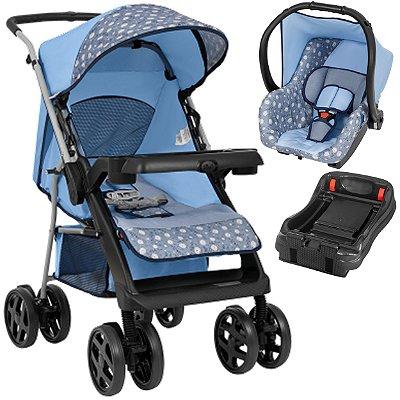 Carrinho de Bebe Tutti Baby Joy com Bebe Conforto Base Azul