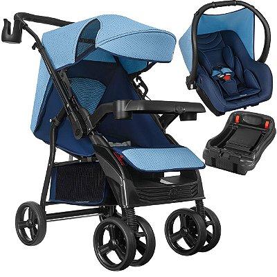 Carrinho de Bebe Tutti Baby Nivo com Bebe Conforto Base Azul