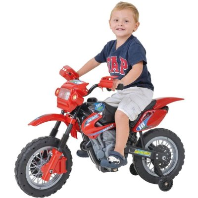 Moto Eletrica Infantil Xplast Motocross 6V Vermelha