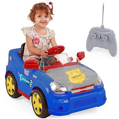 Carro Eletrico com Controle XPlast Sout Car 6V Police Azul