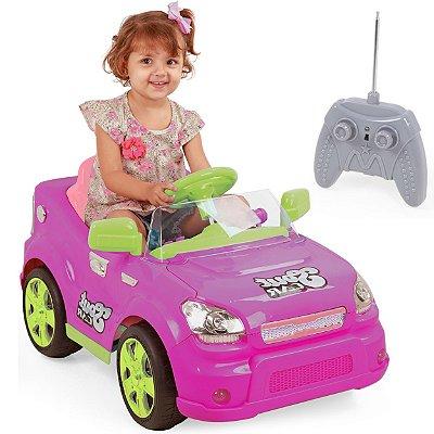 Carro Eletrico com Controle XPlast Sout Car 6V Love Rosa