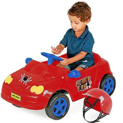 Carrinho de Pedal para Bebes XPlast Mercedes Spider Vermelha