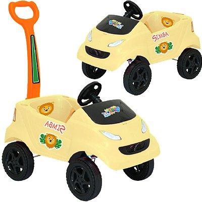 Carrinho de Passeio para Bebe XPlast Baby Car Leão Amarelo
