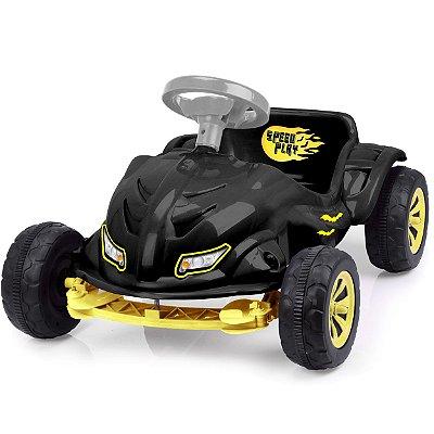 Carrinho de Pedal Infantil XPlast Speedplay Bat Preto