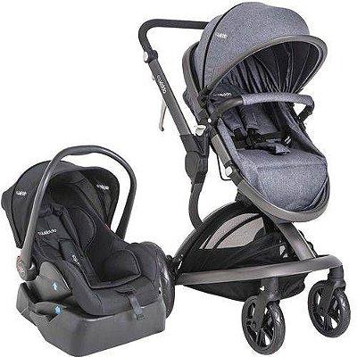 Carrinho de Bebe Bebe Conforto e Base Kiddo Quantum Melange Azul