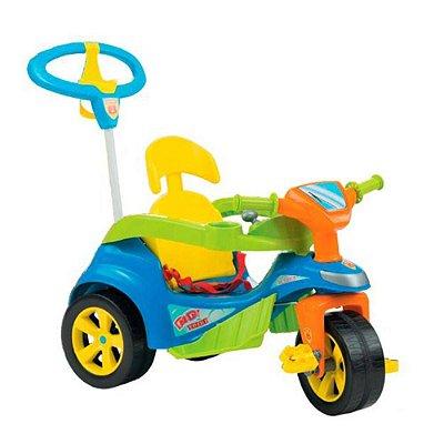 Triciclo Baby Trike Evolution Com Empurrador Azul Biemme