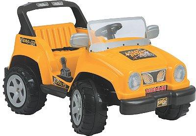 Carro Eletrico Biemme Jeep Full Power Amarelo