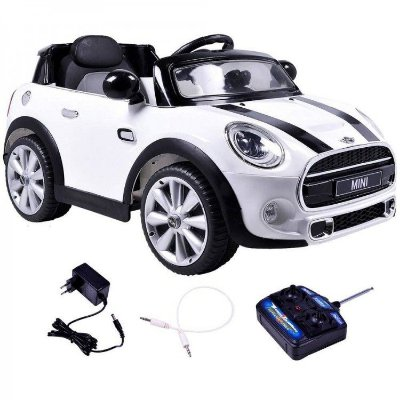 Carro Elétrico Infantil Mini Cooper Conversível Branco - Bel Brink