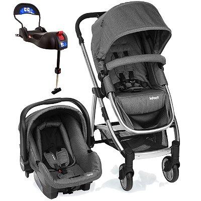 Carrinho de Bebe Bebe Conforto e Base Isofix Infanti Epic Lite Grey Classic