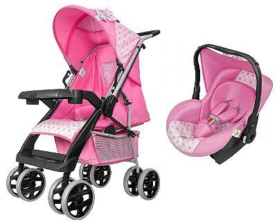 Carrinho de Bebe Bebe Conforto Tutti Baby Thor Rosa New