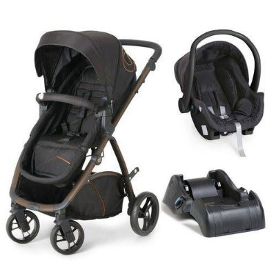 Carrinho de Bebe Bebe Conforto e Base Dzieco Maly Black Copper