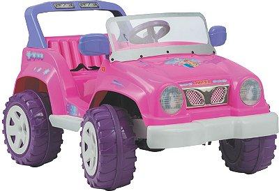 Carro Eletrico Biemme Jeep Full Power Rosa