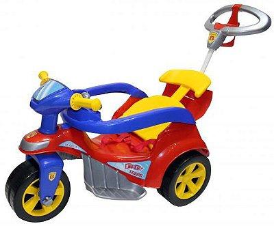 Triciclo Baby Trike Evolution Com Empurrador Vermelho Biemme