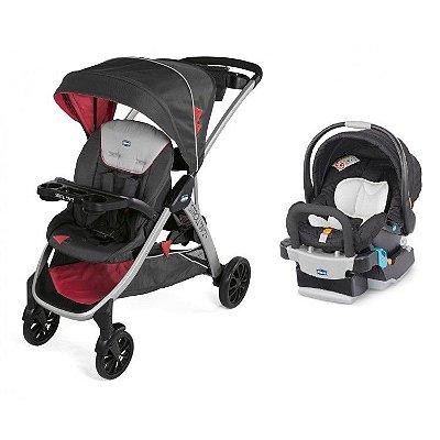 Carrinho de Bebe Bebe Conforto e Base Chicco Stroll'in'2 Lava