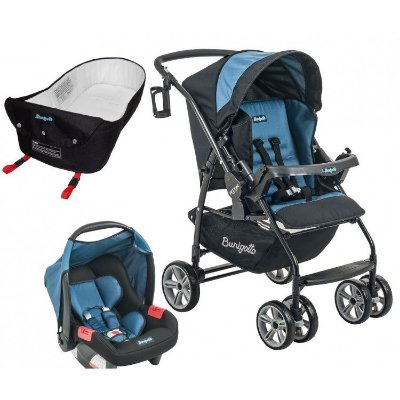 Carrinho de Bebe Bebe Conforto e Ninho Burigotto AT6 K Preto/Azul