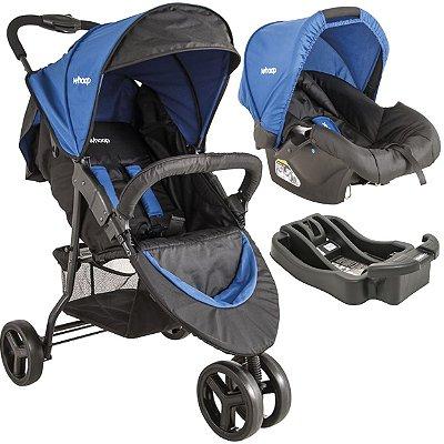 Carrinho de Bebe Bebe Conforto e Base Kiddo Trio Azul