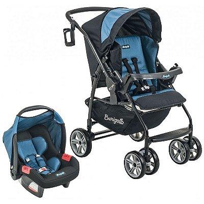 Carrinho de Bebe Bebe Conforto Burigotto AT6 K Preto/Azul