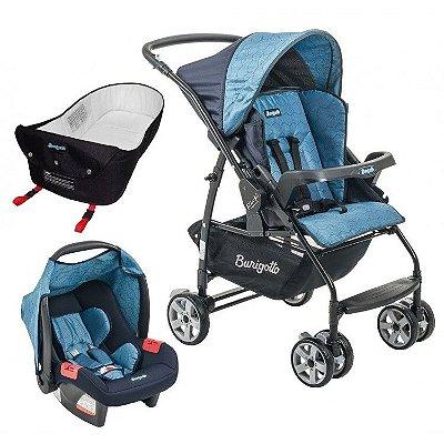 Carrinho de Bebe Bebe Conforto e Ninho Burigotto Rio K Geo Azul